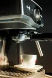 Máquina del fabricante de café Foto de archivo libre de regalías