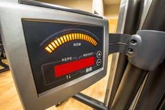 Máquina del gimnasio de la exhibición Imagen de archivo libre de regalías