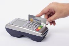 Máquina del pago de la tarjeta Foto de archivo libre de regalías