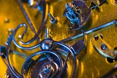 Máquina del reloj Fotografía de archivo libre de regalías