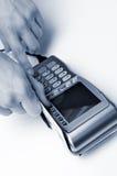 Máquina del terminal de la tarjeta de crédito imagen de archivo libre de regalías