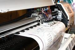 Máquina del trazado de CADD Fotografía de archivo libre de regalías
