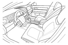 Máquina dentro interior del vehículo Vector Imágenes de archivo libres de regalías