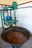 Máquina do óleo de sésamo imagem de stock royalty free