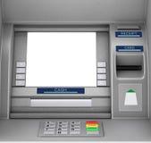 Máquina do ATM do dinheiro do banco rendição 3d ilustração stock