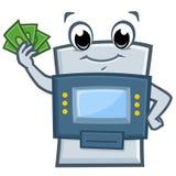 Máquina do ATM dos desenhos animados Fotografia de Stock