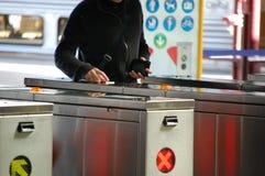 Máquina do bilhete no estação de caminhos-de-ferro Imagem de Stock