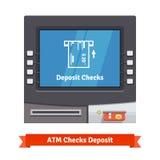 Máquina do caixa do ATM com operação atual Imagem de Stock