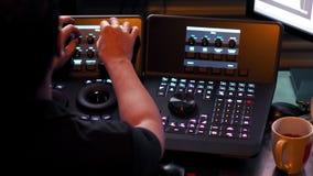 A máquina do controlador de Telecine para edita a cor no vídeo digital fotografia de stock royalty free