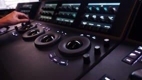 A máquina do controlador de Telecine para edita a cor no vídeo digital imagens de stock