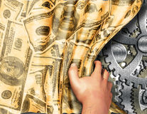 Máquina do dinheiro revelada Imagens de Stock Royalty Free