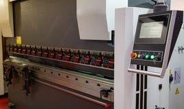 Máquina do dobrador da imprensa do CNC imagem de stock royalty free