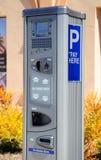 Máquina do pagamento do estacionamento Foto de Stock