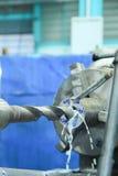 Máquina do parafuso de metal imagens de stock royalty free