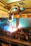 Máquina do robô de soldadura Fotos de Stock