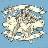 Máquina do tatuagem de Grunge Foto de Stock Royalty Free