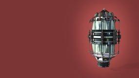 máquina do tempo técnica da ficção científica dos detalhes altos do asbtract com elementos do metal da camuflagem e sinais da rad ilustração do vetor