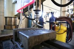 Máquina do torno de Industriel A imagens de stock