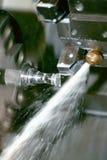 Máquina do torno do CNC imagens de stock