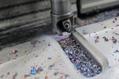Máquina do vertical do metal do CNC Foto de Stock Royalty Free