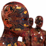 Máquina dos povos - inteligência artificial. Fotos de Stock Royalty Free