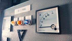 Máquina eléctrica del voltímetro y del amperímetro imágenes de archivo libres de regalías