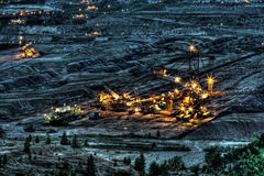 Máquina en la mina de carbón de Belchatow, Polonia Fotografía de archivo libre de regalías