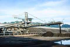 Máquina en reserva del carbón Imágenes de archivo libres de regalías