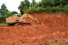 Máquina escavadora Fotografia de Stock