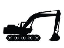 Máquina escavadora ilustração do vetor