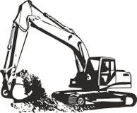 Máquina escavadora Fotos de Stock