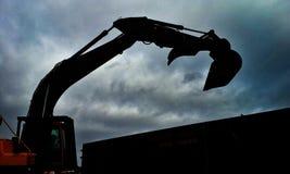 Máquina escavadora Abstract Fotos de Stock Royalty Free