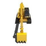 Máquina escavadora amarela Isolated Foto de Stock Royalty Free