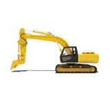 Máquina escavadora amarela Isolated Imagens de Stock Royalty Free