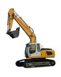 Máquina escavadora amarela nova Imagem de Stock
