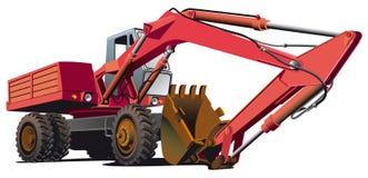 Máquina escavadora antiquado ilustração stock