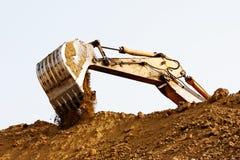 Máquina escavadora Bucket Fotografia de Stock Royalty Free