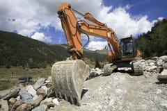 Máquina escavadora - construção de estradas Imagem de Stock