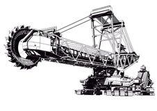 Máquina escavadora da cubeta Imagem de Stock Royalty Free