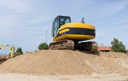 Máquina escavadora da esteira rolante Imagem de Stock