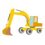 Máquina escavadora da ilustração do vetor Imagens de Stock Royalty Free
