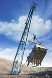 Máquina escavadora da mina Foto de Stock Royalty Free