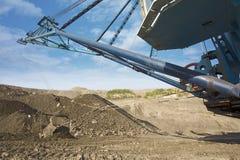 Máquina escavadora da mina Imagens de Stock Royalty Free