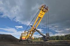 Máquina escavadora da mina Imagens de Stock