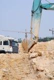Máquina escavadora da torre Fotografia de Stock Royalty Free
