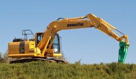 Máquina escavadora de KOMATSU Fotos de Stock
