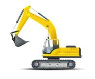 Máquina escavadora detalhada alta do vetor Foto de Stock