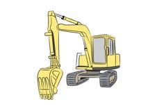 Máquina escavadora diggern Imagem de Stock Royalty Free