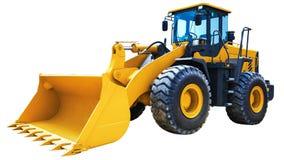 Máquina escavadora do carregador da roda isolada Imagem de Stock Royalty Free