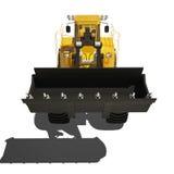 Máquina escavadora do carregador isolada no branco Imagem de Stock Royalty Free